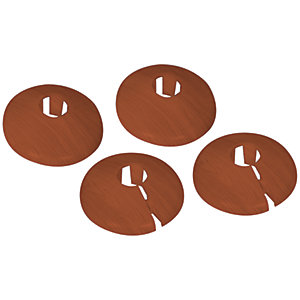 Vitrex PVC Pipe Surrounds Medium Oak - Pack of 4
