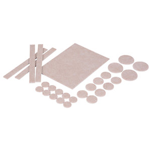 Vitrex Self Adhesive Felt Flooring Pads Natural - Pack of 27
