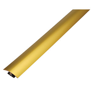 Wickes Flooring T-bar & Reducer Gold - 1.8m