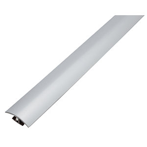 Wickes Flooring T-bar & Reducer Silver - 1.8m