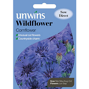 Unwins Cornflower Wildflower Seeds
