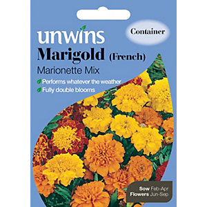 Unwins French Marionette Marigold Mixed Seeds