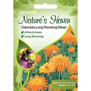 Unwins Natures Haven Calendula Long Flowering Seeds