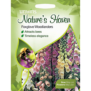 Unwins Natures Haven Woodlanders Foxglove Seeds