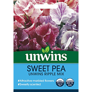 Unwins Ripple Mix Sweet Pea Seeds