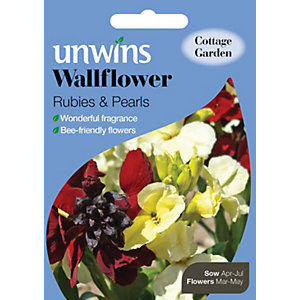 Unwins Rubies & Pearls Wallflower Seeds