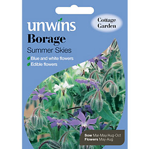 Unwins Summer Skies Borage Seeds
