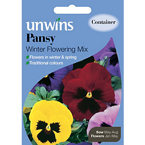 Unwins Winter Flowering Mix Pansy Seeds