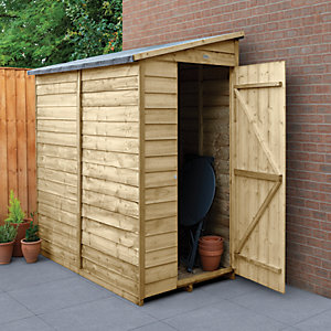 Forest Garden 6 x 3 ft Small Lean-To Pressure Treated Windowless Shed