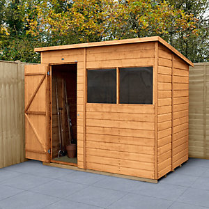 Forest Garden 7 x 5 ft Timber Shiplap Pent Shed