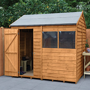 Forest Garden 8 x 6 ft Reverse Apex Overlap Dip Treated Shed