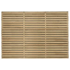 Forest Garden Double Slatted Fence Panel 6 x 4 ft Multi Packs