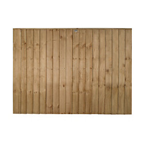 Forest Garden Featheredge Fence Panel - 6 x 4ft Multi Packs