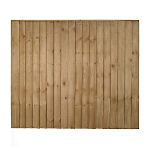 Forest Garden Featheredge Fence Panel - 6 x 5ft Multi Packs