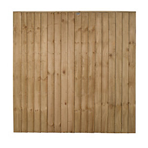 Forest Garden Featheredge Fence Panel - 6 x 6ft Multi Packs