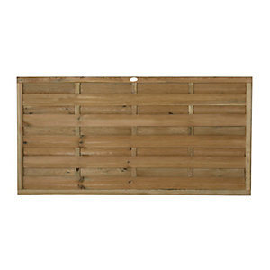 Forest Garden Horizontal Hit & Miss Fence Panel - 6 x 3ft Multi Packs