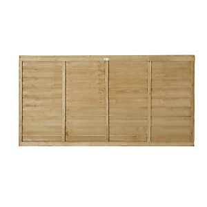 Forest Garden Pressure Treated Overlap Fence Panels - 6ft x 3ft