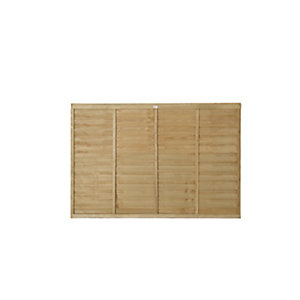 Forest Garden Pressure Treated Overlap Fence Panels - 6ft x 4ft