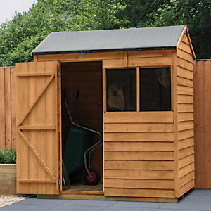 Forest Garden Reverse Apex Overlap Dip Treated Shed - 6 x 4 ft