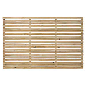 Forest Garden Single Slatted Fence Panel 6 x 4 ft Multi Packs