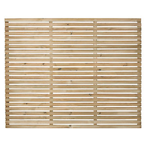 Forest Garden Single Slatted Fence Panel 6 x 5 ft Multi Packs