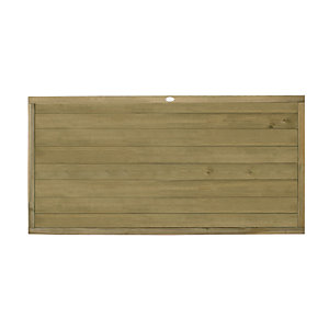 Forest Garden Tongue & Groove Horizontal Fence Panel - 6 x 3ft Multi Packs
