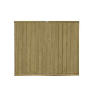 Forest Garden Tongue & Groove Vertical Fence Panel - 6 x 5ft Multi Packs