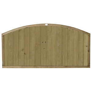 Forest Garden Vertical Domed Top Tongue & Groove Fence Panel - 6 x 3ft Multi Packs
