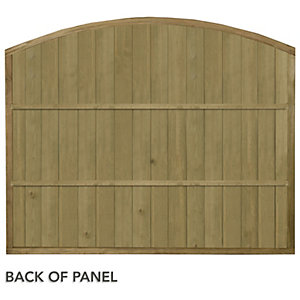 Forest Garden Vertical Domed Top Tongue & Groove Fence Panel - 6 x 5ft Multi Packs
