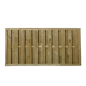 Forest Garden Vertical Hit & Miss Fence Panel - 6 x 3ft Multi Packs