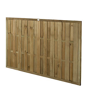 Forest Garden Vertical Hit & Miss Fence Panel - 6 x 4ft Multi Packs