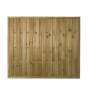 Forest Garden Vertical Hit & Miss Fence Panel - 6 x 5ft Multi Packs