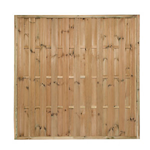 Forest Garden Vertical Hit & Miss Fence Panel - 6 x 6ft Multi Packs