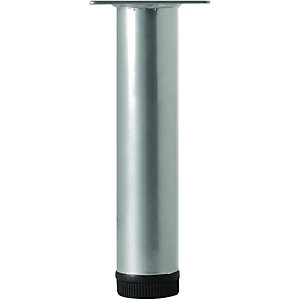 Wickes Round Furniture Leg - Grey 32 x 200mm