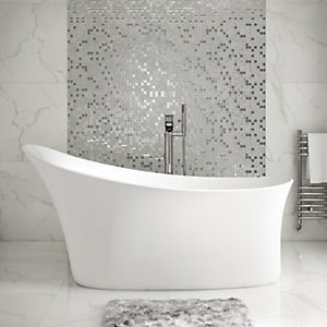 Wickes Fasani Contemporary Freestanding Slipper Bath - 1590mm