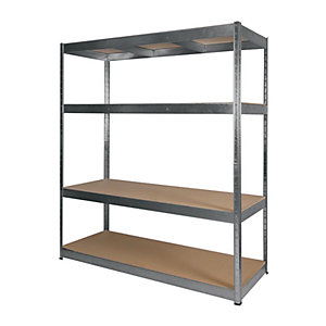 Rb Boss 4 Tier Wood Shelving Kit - 1800 x 1600 x 600mm 300kg Udl