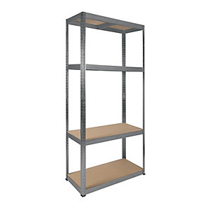 Rb Boss 4 Tier Wood Shelving Kit - 1800 x 900 x 400mm 300kg Udl