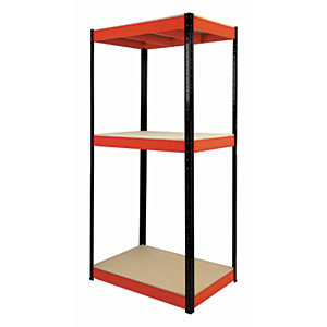 Rb Boss Shelf Kit 3 Wood Shelves - 1800 x 900 x 400mm 800kg Udl