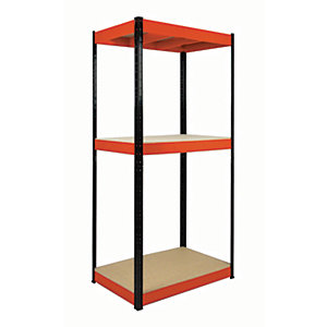Rb Boss Shelf Kit 3 Wood Shelves - 1800 x 900 x 600mm 800kg Udl
