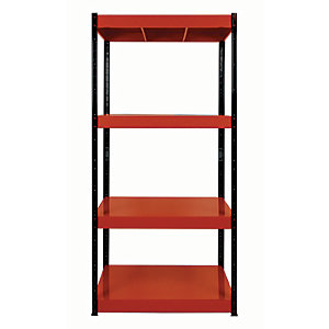 Rb Boss Shelf Kit 4 Metal Shelves - 1800 x 900 x 300mm 400kg Udl