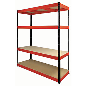 Rb Boss Shelf Kit 4 Wood Shelves - 1800 x 1600 x 600mm 300kg Udl