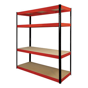 Rb Boss Shelf Kit 4 Wood Shelves - 1800 x 900 x 300mm 500kg Udl