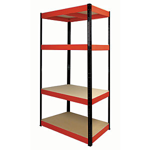 Rb Boss Shelf Kit 4 Wood Shelves - 1800 x 900 x 400mm 300kg Udl