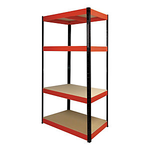 Rb Boss Shelf Kit 4 Wood Shelves - 1800 x 900 x 400mm 500kg Udl