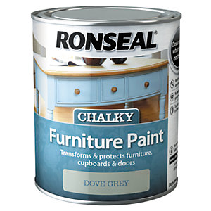 Ronseal Chalky Furniture Paint - Dove Grey 750ml