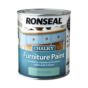 Ronseal Chalky Furniture Paint - Duck Egg 750ml