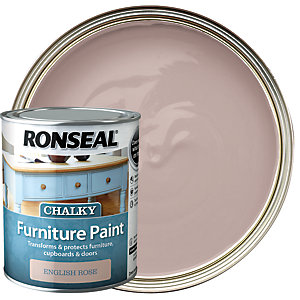 Ronseal Chalky Furniture Paint - English Rose 750ml
