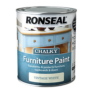 Ronseal Chalky Furniture Paint - Vintage White 750ml