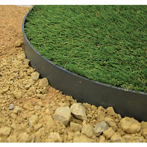 Flexible Lawn Edging Strip With 8 Plastic Anchoring Stakes