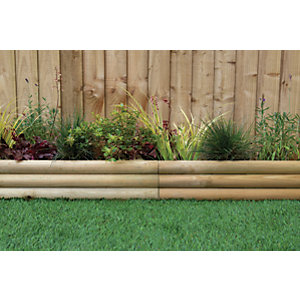 Horizontal Log border edging 300 x 800mm